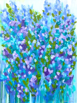 (CreativeWork) Morning, noon and night  by Janelle Bowra. Acrylic Paint. Shop online at Bluethumb.