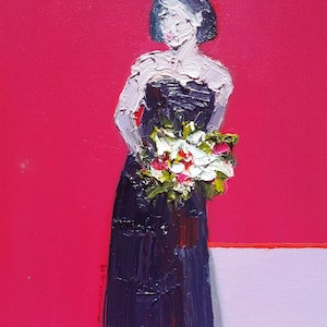 (CreativeWork) Happy valentines  by nashwan alessa. oil-painting. Shop online at Bluethumb.