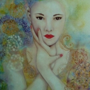 (CreativeWork) Friends Through Art   Mystical Series by Janice Bryant. oil-painting. Shop online at Bluethumb.