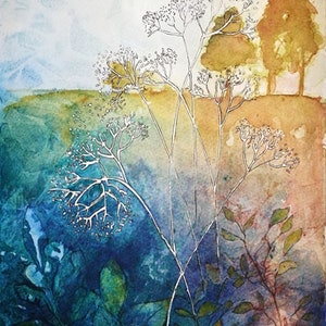 (CreativeWork) At The Top Of The Hill by Lucinda Leveille. watercolour. Shop online at Bluethumb.