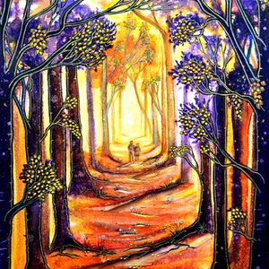 (CreativeWork) Trees - A Moment in Time by Linda Callaghan. mixed-media. Shop online at Bluethumb.