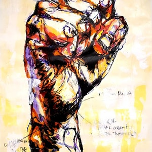 (CreativeWork) Handstudy | Carpal Tunnel by Rebecca lam. arcylic-painting. Shop online at Bluethumb.