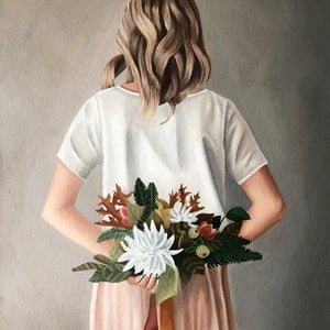 (CreativeWork) Season's Blooms by Ashley Bunting. oil-painting. Shop online at Bluethumb.