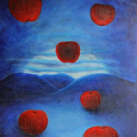 (CreativeWork) The Suspension of Time in the season of Waiting by Sarah Walker. Acrylic Paint. Shop online at Bluethumb.