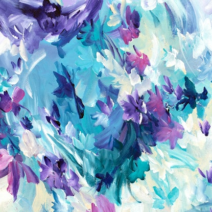 (CreativeWork) Violet Spell by Amber Gittins. Acrylic. Shop online at Bluethumb.