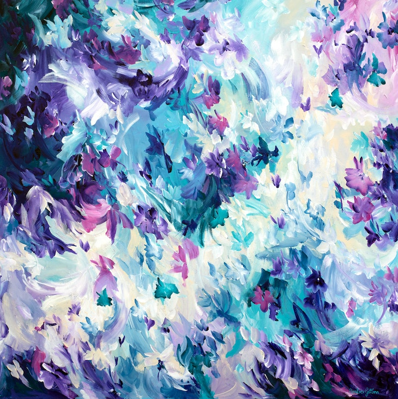 Violet Spell By Amber Gittins Paintings For Sale Bluethumb