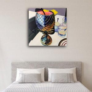 (CreativeWork) Cocktail time by Alison Pilcher. arcylic-painting. Shop online at Bluethumb.