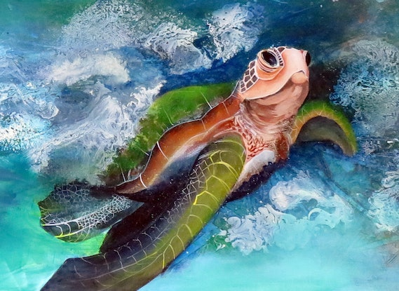 (CreativeWork) Coming Ashore by Tricia Bradford. Mixed Media. Shop online at Bluethumb.