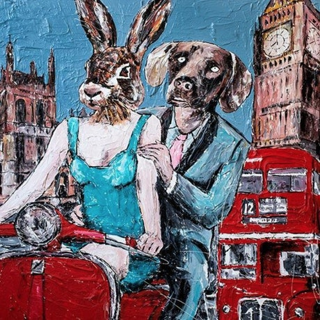 (CreativeWork)  They thought there was no place on earth like London by Gillie and Marc Schattner. Print. Shop online at Bluethumb.
