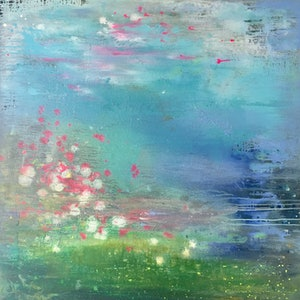 (CreativeWork) Spring  by helene hardy. arcylic-painting. Shop online at Bluethumb.
