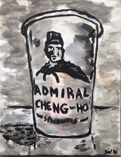 (CreativeWork) Admiral Cheng Ho' by Sidney Sprague. arcylic-painting. Shop online at Bluethumb.