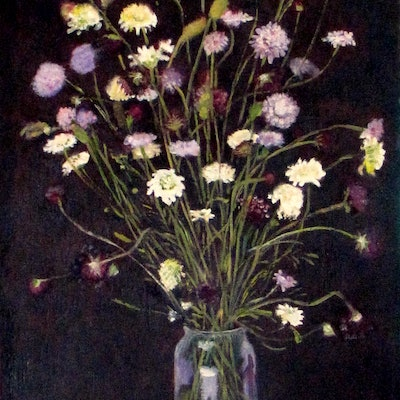 (CreativeWork) wild flowers 2 by Raymond Wittenberg. Oil Paint. Shop online at Bluethumb.