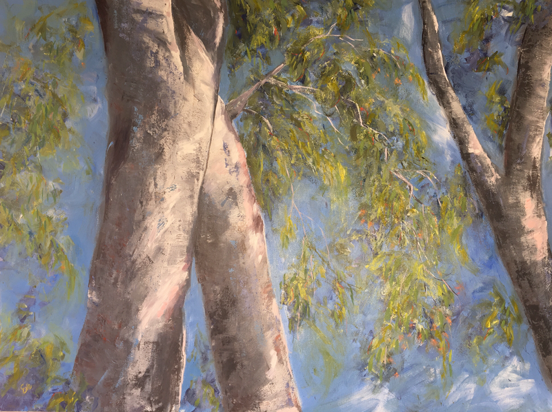 (CreativeWork) Australia Spring by Eve Sellars. arcylic-painting. Shop online at Bluethumb.