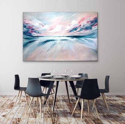 (CreativeWork) Swept Away (large scale 153x102cm)  by Kat Las. Acrylic. Shop online at Bluethumb.