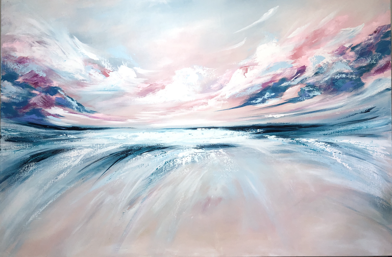 (CreativeWork) Swept Away (large scale 153x102cm)  by Kat Las. arcylic-painting. Shop online at Bluethumb.