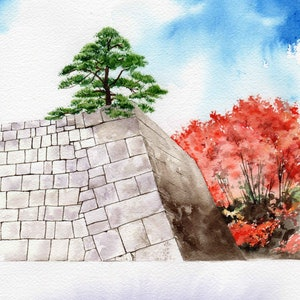 (CreativeWork) imperial gardens by Martin stauce. watercolour. Shop online at Bluethumb.