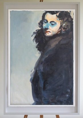 (CreativeWork) Green Eyes by Tony Belobrajdic. Oil Paint. Shop online at Bluethumb.