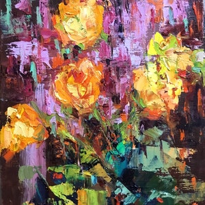 (CreativeWork) Surprise  by Melanie Bardolia. oil-painting. Shop online at Bluethumb.