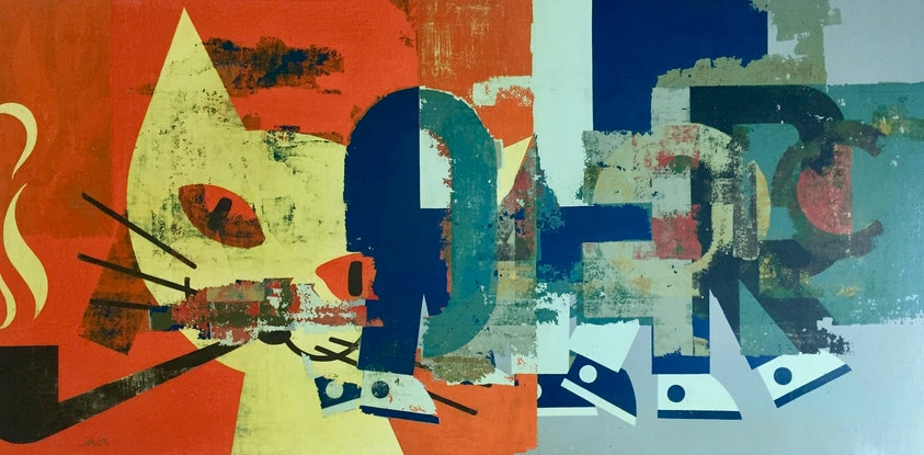(CreativeWork) At the end of a day by Letter allsorts. Acrylic Paint. Shop online at Bluethumb.