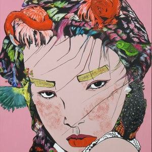 (CreativeWork) BIRD HEAD GEISHA  LIMITED EDITION PRINT 1/5 Ed. 1 of 5 by Lesley Taylor. print. Shop online at Bluethumb.