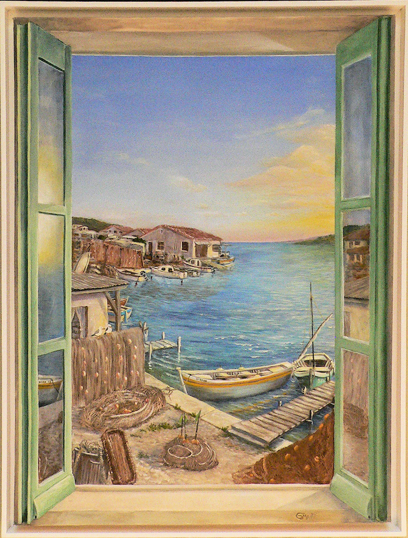(CreativeWork) Morning Sun by Gerard Maille. oil-painting. Shop online at Bluethumb.