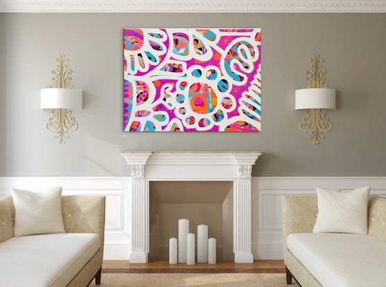 (CreativeWork) I love Candy II by Sarah Morrow. Acrylic Paint. Shop online at Bluethumb.