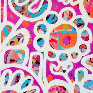 (CreativeWork) I love Candy II by Sarah Morrow. arcylic-painting. Shop online at Bluethumb.