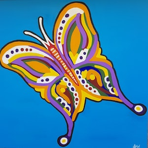 (CreativeWork) Flutter by Luke Lord. acrylic-painting. Shop online at Bluethumb.