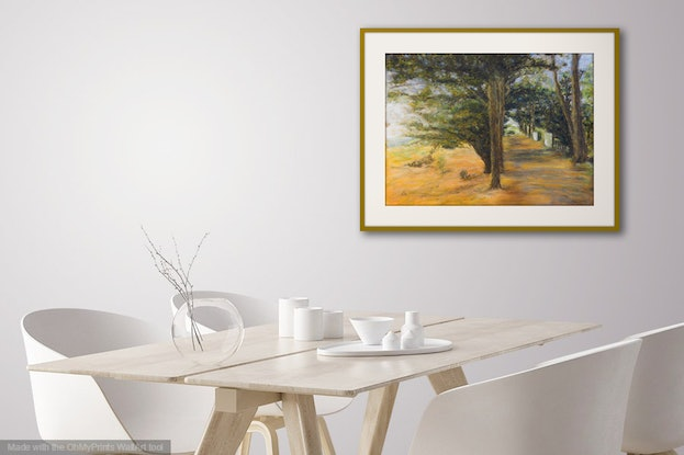 (CreativeWork) Parkland, Lake Learmonth by Anne Huth. Drawings. Shop online at Bluethumb.
