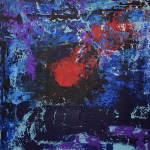 (CreativeWork) Nebula 5 by Ric Connors. arcylic-painting. Shop online at Bluethumb.