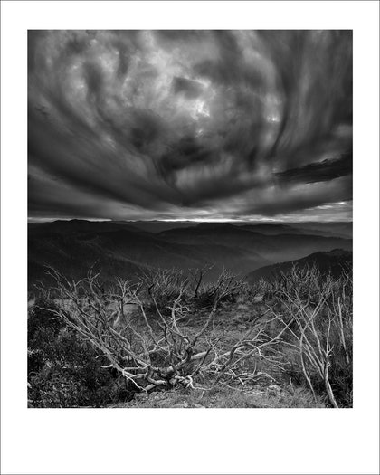 (CreativeWork) Wounded Landscape - Mt Hotham, Alpine Australia - Edition 3 by Paul Foley. photograph. Shop online at Bluethumb.
