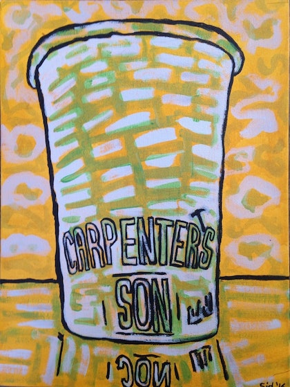 (CreativeWork) Carpenter's Son 🔨 by Sidney Sprague. arcylic-painting. Shop online at Bluethumb.