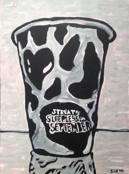(CreativeWork) Streat's Sleepless in September' by Sidney Sprague. arcylic-painting. Shop online at Bluethumb.