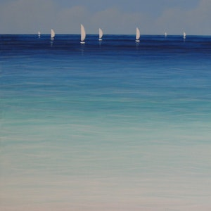 (CreativeWork) Sounds of the Sea II by Elena Parashko. arcylic-painting. Shop online at Bluethumb.