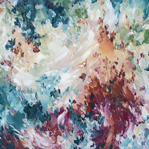 (CreativeWork) Intimate Details by Amber Gittins. arcylic-painting. Shop online at Bluethumb.