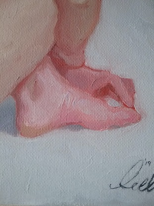 (CreativeWork) Woman Sitting by Jemma Cakebread. Oil. Shop online at Bluethumb.