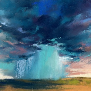 (CreativeWork) Outback Storm in Pastels by Lamice Ali. other-media. Shop online at Bluethumb.