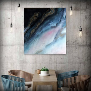 "(CreativeWork) Abstract Wall Art ""Misty Glow"" by Petra Meikle de Vlas. mixed-media. Shop online at Bluethumb."