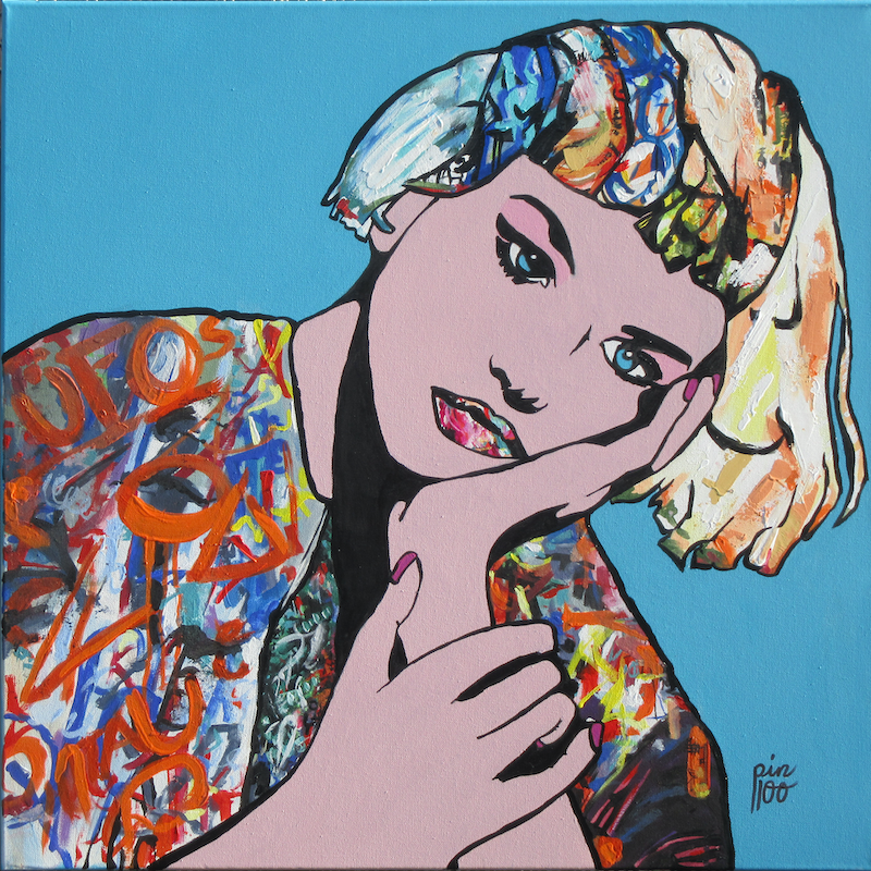 (CreativeWork) GRAFFITI GIRL by Lesley Taylor. arcylic-painting. Shop online at Bluethumb.