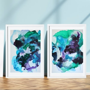 (CreativeWork) 2 x Mixed media on Yupo by Michelle Drougas. mixed-media. Shop online at Bluethumb.