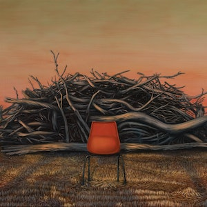 (CreativeWork) Hot Seat by Kirsten Sivyer. Oil Paint. Shop online at Bluethumb.
