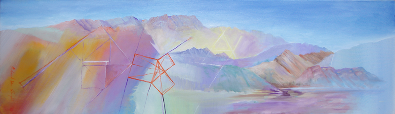 (CreativeWork) Mountains with Geometry by Roland Weight. #<Filter:0x00007fbca87a9e98>. Shop online at Bluethumb.
