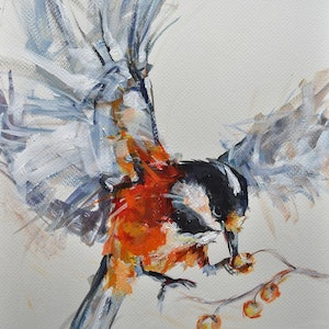 (CreativeWork) In Flight 1 by Rebecca Hill. arcylic-painting. Shop online at Bluethumb.
