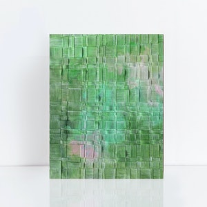 (CreativeWork) Field Study III - abstract painting on woven paper by Jennifer Bell. mixed-media. Shop online at Bluethumb.