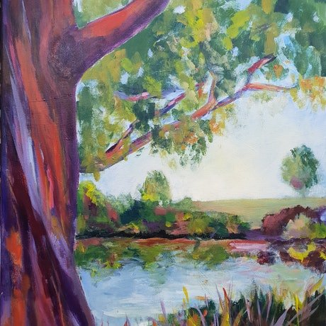 (CreativeWork) Tranquility by Jenny Moynahan. Acrylic Paint. Shop online at Bluethumb.