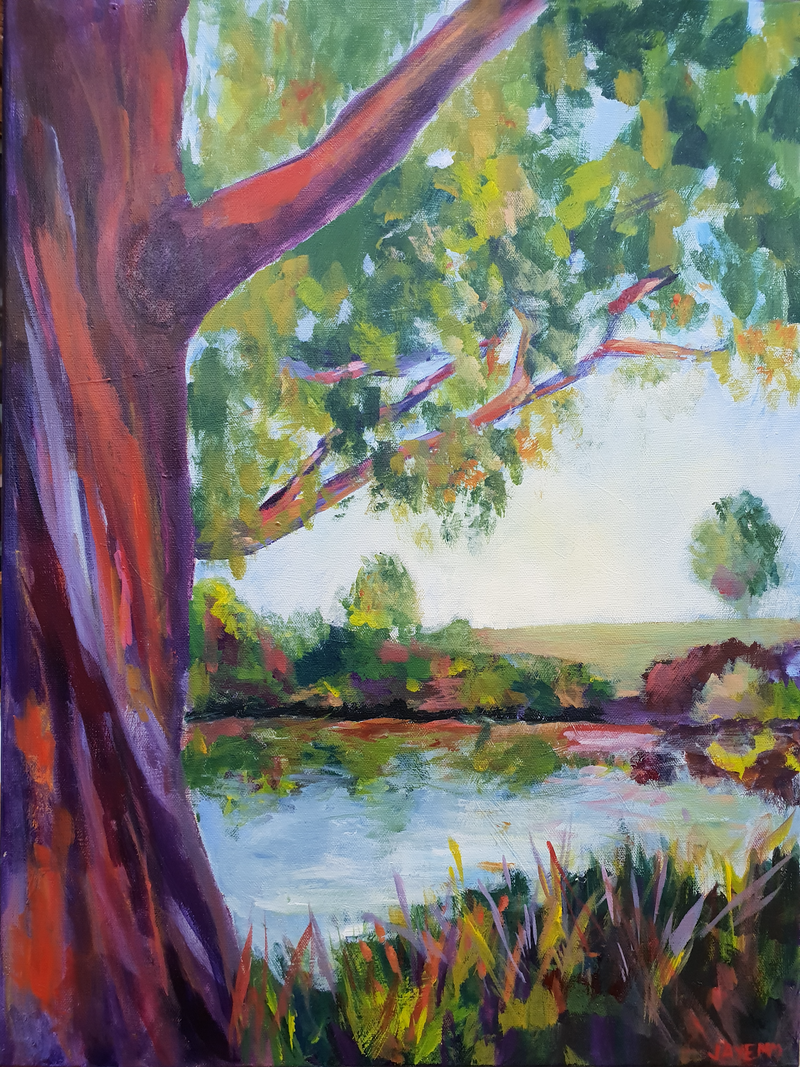 (CreativeWork) Tranquility by Jenny Moynahan. acrylic-painting. Shop online at Bluethumb.