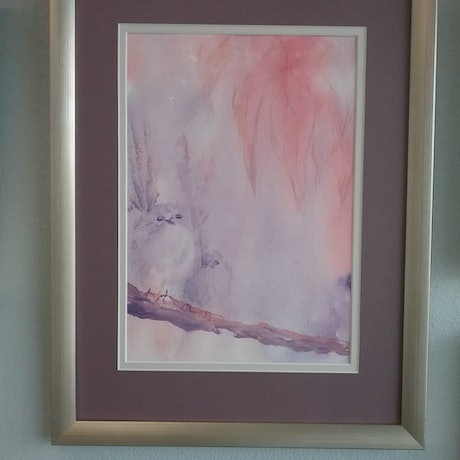 (CreativeWork) Mother Love by Mary Brown. Watercolour Paint. Shop online at Bluethumb.