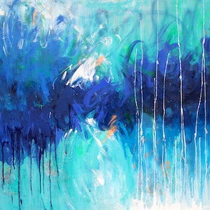 (CreativeWork) Hidden Depths by Belinda Nadwie. oil-painting. Shop online at Bluethumb.