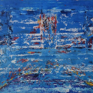 (CreativeWork) Water Lights by Ric Connors. arcylic-painting. Shop online at Bluethumb.
