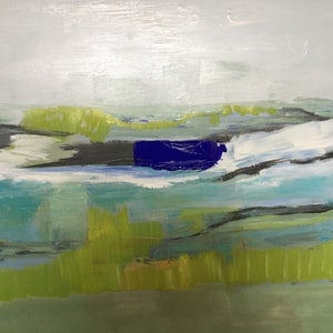 (CreativeWork) Abstract Seascape 2019 by Patricia Galloway. arcylic-painting. Shop online at Bluethumb.